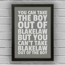 BLAKELAW - BOY/GIRL FRAMED WORD TEXT ART PICTURE POSTER Newcastle Upon Tyne