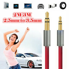 2.5mm to 3.5mm Jack Male Audio AUX Car Headphone Cable Stereo Converter Adapter