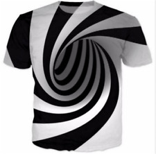New Women Men Hypnosis Funny 3D Print T-Shirt Casual Short Sleeve Round Tee Tops