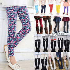 Children Kid Girl Winter Warm Thick Fleece Leggings Lined Trousers Stretch Pants