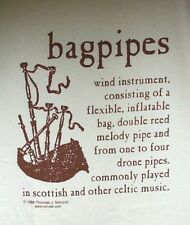 Hand Screened Bagpipe Definition T-Shirt;