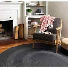 Colonial Mills Banded Multicolor Wool and Polypropylene Braided Rug (3' x 5')
