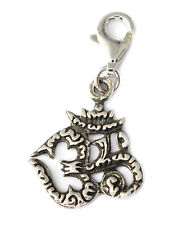 Hindu Word Aum Om Ohm 92.5 Sterling Silver Pewter Charm Necklace Pendent Jewelry