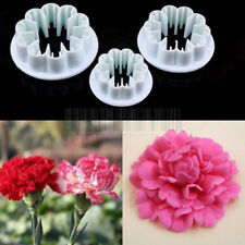 Carnation Flowers Cookie Pastry Biscuit Cutter Fondant Cake Decorating Mold Tool