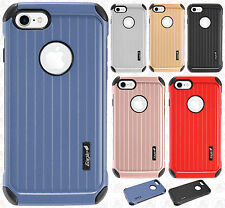For Apple iPhone 8 & 8 PLUS Rubber IMPACT CO HYBRID Case Skin Phone Cover