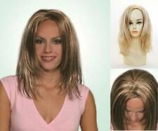 LONG STRAIGHT WET LOOK FRONT LAYERED ENDS ZIG-ZAGGED CENTER WIG HEATHER CARRIE