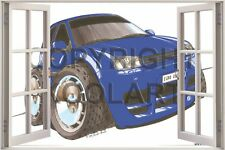 Huge 3D Koolart Window view Vw Golf Mk5 Wall Sticker Poster 2519