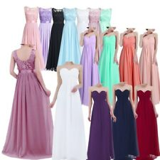 Women's Ladies Long Evening Dress Cocktail Wedding Bridesmaid Elegant Prom Gown