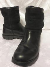 UGG Australia BEACON Classic Short LEATHER Suede SHEEPSKIN LINED BOOTS Sz 9 5485