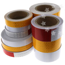 Strong Adhesive Reflective Safety Warning Conspicuity Tape Vehicles Mining Ports