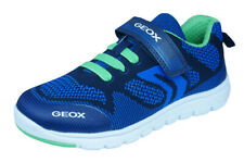 Geox J Xunday B J Boys Sneakers / Casual Sports Shoes - Navy and Green