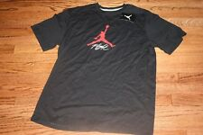 NIKE MEN'S AIR JORDAN FLIGHT JUMPMAN SHIRT BLACK 574501 012 NEW
