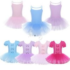 Kids Princess Girls Mesh Ballet Tutu Dress Leotard Costume Dancing Tulle Skirt