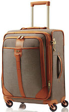 Hartmann Luggage Herringbone Luxe Carry On Expandable Spinner Suitcase - Terraco