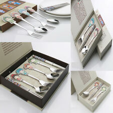 3/6 Pcs Tableware Set Stainless Steel Spoon Fork Chopsticks Chinese Style