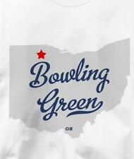 Bowling Green, Wood County, Ohio OH MAP Souvenir T Shirt All Sizes & Colors