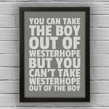 WESTERHOPE - BOY/GIRL FRAMED WORD TEXT ART PICTURE POSTER Newcastle Upon Tyne