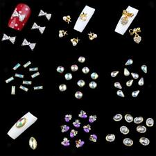 10pcs Glitters Slices Alloy Rhinestones Crystal 3D Nail Art Tips Decorations