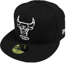 New Era Chicago Bulls NBA Black White 59FIFTY 5950 Fitted Cap Limited Edition