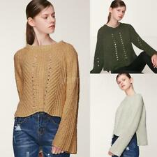 Womens Loose Hollow Out Knitwear Pullover Women Sexy Sweater Tops Fashion B8E2
