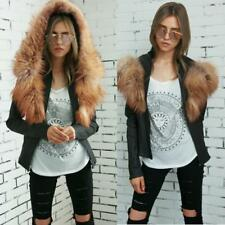 Fashion Women Faux Fur Leather Outwear Racing Style Motorcycle Biker Jacket Coat
