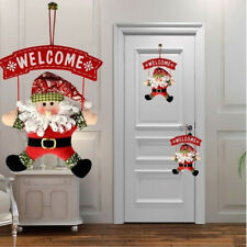 Lovely Santa Claus Door Hanging Christmas Tree Home Decor Ornaments Xmas Gift FT