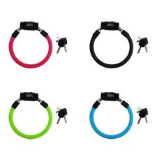 Bicycle MTB Bike Cycle Safety Spiral Steel Cable Lock Anti-theft Lock 2 keys