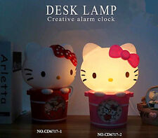 2017 Hellokitty Light cartoon Desk lamp luminaria nightlight Lamp Beds w/ Clock