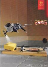 NM 2003 MAGAZINE PRINT AD for SMIRNOFF VODKA - MOUSE & TRAP w/SWISS CHEESE