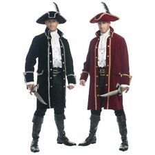 ADULT MENS COLONIAL RUTHLESS PIRATE PRINCE COSTUME COAT JACKET CARIBBEAN CAPTAIN
