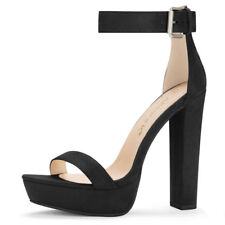 Woman High Chunky Heel Ankle Strap Platform Sandals