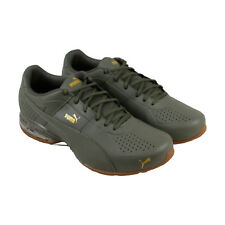 Puma Cell Surin 2 Premium Mens Black Leather Athletic Lace Up Training Shoes