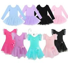 Girls Gymnastics Ballet Dress Leotard Tutu Skirt Party Dance Wear Costume Kids