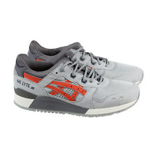 Asics Gel Lyte Iii Mens Gray Mesh & Suede Athletic Lace Up Running Shoes