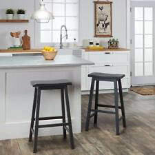 Counter Height Saddle Seat Stools (Set of 2)