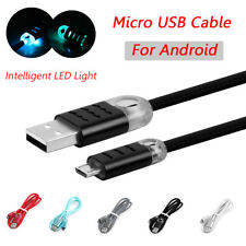3Ft LED Light Micro USB Data Sync Cable Charging Lead For Samsung Galaxy Note 8