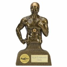 Male SWIMMING Trophy FREE ENGRAVING Personalised Engraved Swimmer Award NEW