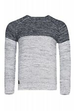 Carisma Rope Sweater Men's Knitted Sweater Casual Sweater Blue Slim Fit