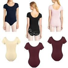 Women's Ballet Dance Leotard Short Sleeve Gymnastics Yoga Bodysuit Dancers' Wear