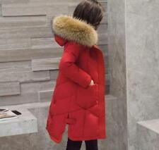 Hot Fashion Women's 100% Real Fur Down jacket Lady Parka  Winter  Warm Coat