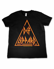 Def Leppard T Shirt Classic Prism Band Logo Official Kids New Black Size 3-12yrs