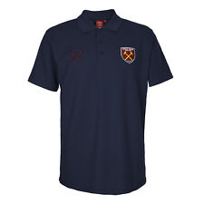 West Ham United FC Official Football Gift Mens Crest Polo Shirt