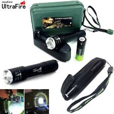 Tactical 20000LM XML T6 LED Lamp Flashlights Zoomable Torch+18650+Charger+Clip
