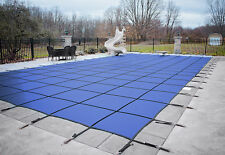 HPI Rectangle BLUE MESH In-Ground Swimming Pool Safety Cover-12 Yr Limited WTY