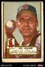 1952 Topps #383 Del Wilber Red Sox FAIR