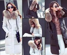 2017 Fashion  Women's 100% Real Fur Down jacket Lady Parka Coat Winter Jacket