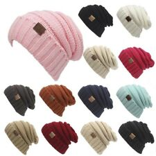 New Womens Mens Knitted Crochet Winter Warm Oversized Ski Slouch Beanie Cap Hat