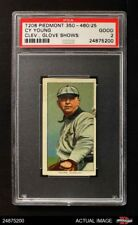 1909 T206 Cy Young Cleveland Glove Shows Naps (Indians) PSA 2 - GOOD