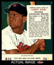 1955 Red Man #18 Larry Doby With Tab Indians EX