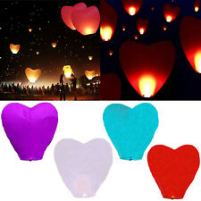 1/5x Sky Flying Paper Wishing Lanterns Lucky Light Wedding Party Assorted Color#